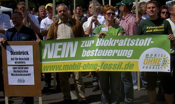 Nein zur Biokraftstoffbesteuerung